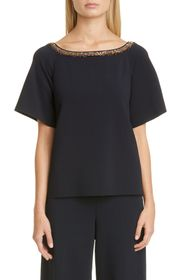 Stella McCartney Embroidered SS Short Sleeve Woven