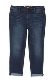 Seven7 High Rise Tummyless Rolled Slim Fit Jeans