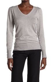 T Tahari Buttoned Cuff Long Sleeve Knit Top