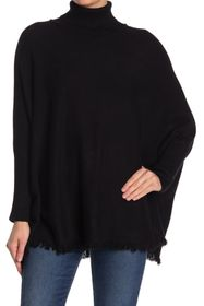 Joan Vass Long Dolman Sleeve Turtleneck Sweater