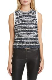 alice + olivia Reva Textured Stitch Shell Top