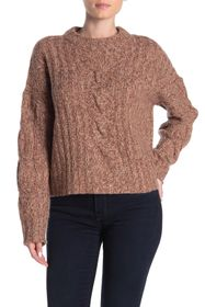 360 Cashmere Destiny Marled Cable Knit Cashmere Sw