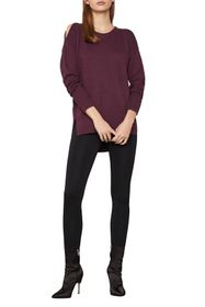 BCBGMAXAZRIA Cold Shoulder High/Low Knit Sweater