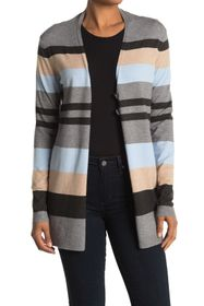 Cyrus Stripe Print Button Front Cardigan