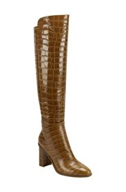 Marc Fisher LTD Mlunella Croc Embossed Knee High B
