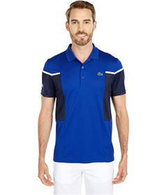 Lacoste Short Sleeve Mesh Inset Color-Block Polo