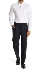 Brooks Brothers Navy Solid Pleated Madison Fit Sui