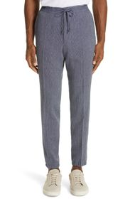 Z Zegna Slim Fit Seersucker Linen & Cotton Jogger
