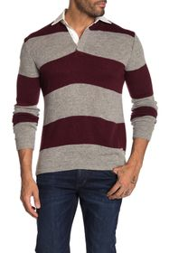 Slate & Stone Rugby Stripe Sweater Polo