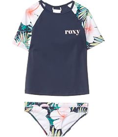 Roxy Kids Peachy Vibes Short Sleeve Lycra Swim Set