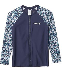 Roxy Kids Your Magic Long Sleeve Zip Rashguard (Bi