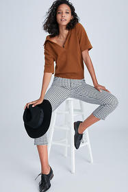 Anthropologie Sanctuary High-Rise Gingham Cropped
