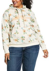 Ariat REAL Floral Cactus Long-Sleeve Hoodie for La