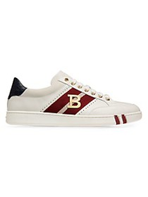 Bally Wilsy Embellished Leather Sneakers