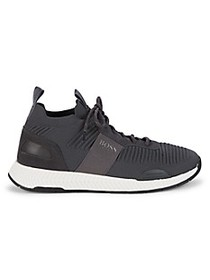 Boss Hugo Boss Textured Lace-Up Sneakers