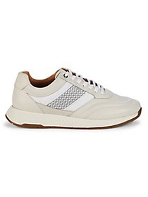 Boss Hugo Boss Textured Logo Leather Sneakers