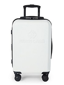 Roberto Cavalli Logo Expandable Hardside Carry-On