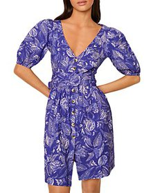 FRENCH CONNECTION - Besima Printed Belted Dress