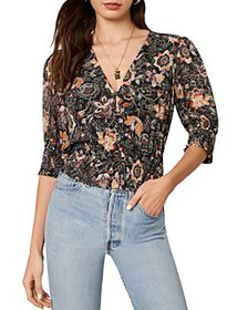 cupcakes and cashmere - Abra Floral Print Chiffon
