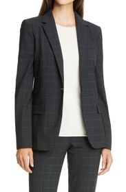 Theory Staple Windowpane Check Blazer
