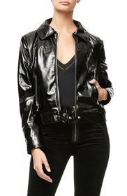 Good American The Patent Biker Jacket