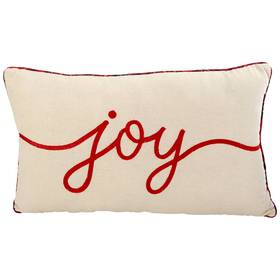 Joy Plaid Reverse Decorative Pillow - 14x24