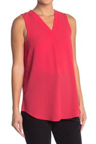 Adrianna Papell V-Neck Sleeveless Solid Top
