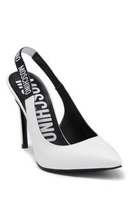 MOSCHINO Slingback Leather Stiletto Pump