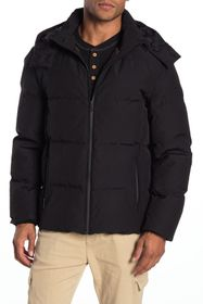 Cole Haan Hooded Zip Puffer Down Jacket