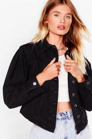 Nasty Gal Washed black Wash Not to Love Puff Sleev