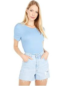 BCBGeneration Short Sleeve Baby Cropped Knit Top T