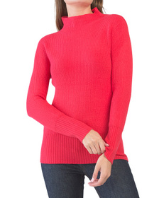 FRENCH CONNECTION Ribbed Mock Neck Sweater