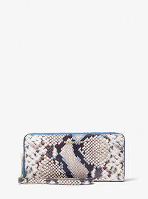 Michael Kors Jet Set Travel Large Python Embossed