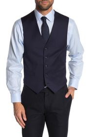 Tommy Hilfiger Navy Twill Suit Separate Vest
