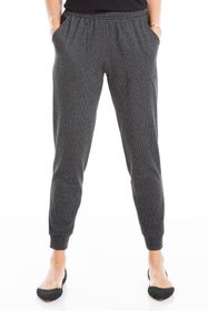 Max Studio Houndstooth Double Knit Joggers