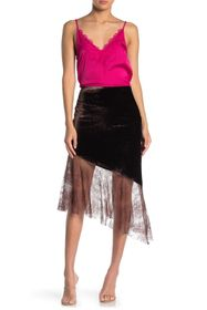 Free People My Lacey Velvet Midi Skirt