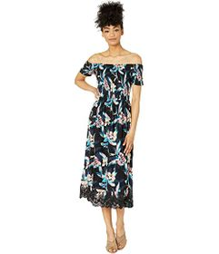 Roxy Pretty Lovers Off-the-Shoulder Midi Dress