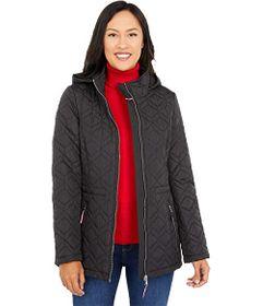 Tommy Hilfiger Double Diamond Quilted Hooded Jacke