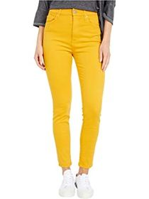 7 For All Mankind High-Waist Ankle Skinny in Gold