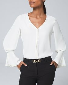 Pleated-Cuff Blouse