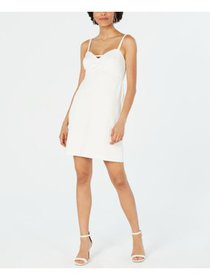 BETSEY JOHNSON Womens White Spaghetti Strap Sweeth