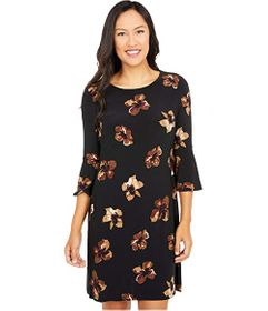 Tommy Hilfiger Bell Sleeve Floral Jersey Dress