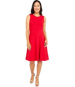 Tommy Hilfiger Scuba Crepe Fit-and-Flare Dress