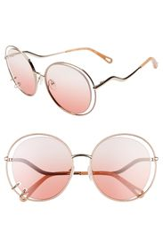 Chloe Wendy 59mm Round Sunglasses