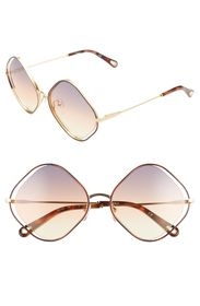 Chloe Poppy 57mm Diamond Shape Sunglasses