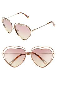 Chloe Poppy Love Heart 61mm Sunglasses