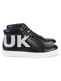 French Connection Triomphe High-Top Leather Sneake