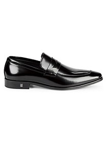 Versace Collection Leather Penny Loafers