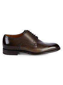 Bally Brushed Finish Leather Derby Shoes