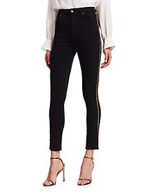 7 For All Mankind Aubrey High-Rise Caviar Racing S